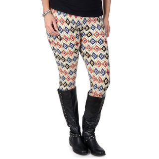 Hailey Jeans Co. Junior's Contemporary Plus Soft Print Leggings