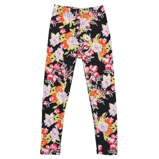 Hailey Jeans Co. Girl's Soft Floral Print Leggings