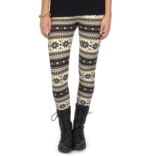 Hailey Jeans Co. Junior's Soft Fair Isle Print Leggings
