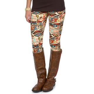 Hailey Jeans Co. Junior's Soft Geometric Print Leggings