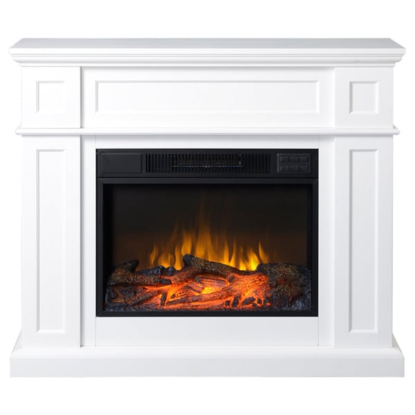 41 Wide Electric Fireplace Mantle In White 16659899 Shopping Great Deals On
