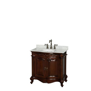 Wyndham Collection Edinburgh 36-inch Cherry Undermount Sink Single Bathroom Vanity