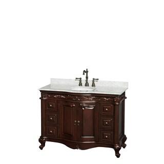 Wyndham Collection Edinburgh 48-inch Cherry Undermount Sink Single Bathroom Vanity