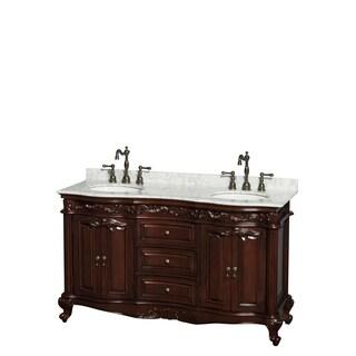 Wyndham Collection Edinburgh 60-inch Cherry Undermount Sink Double Bathroom Vanity
