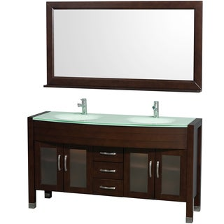 Wyndham Collection Daytona 60-inch Espresso Double Bathroom Vanity