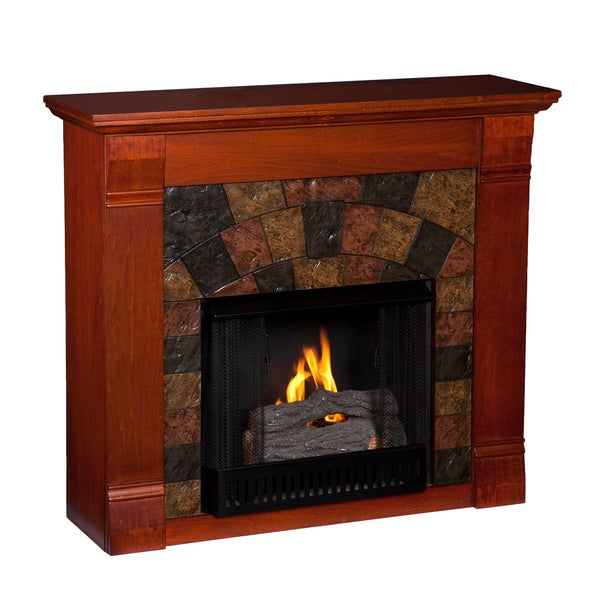 Upton Home Trent Mahogany Gel Fuel Fireplace