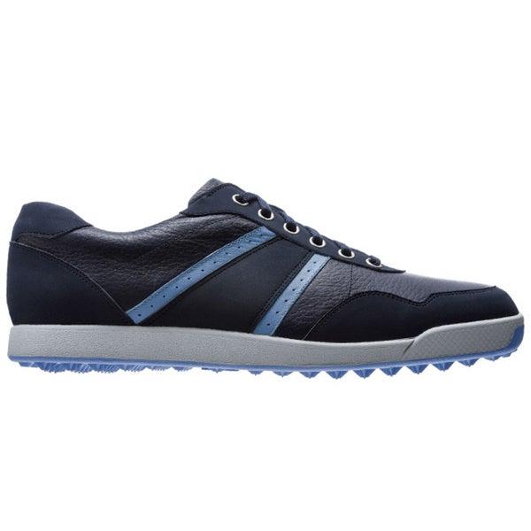 FootJoy Men's Contour Casual Navy/Blue Spikeless Golf Shoes