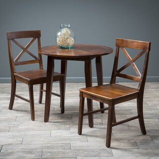Christopher Knight Home Carridge 3-piece Round Wood Dining Set