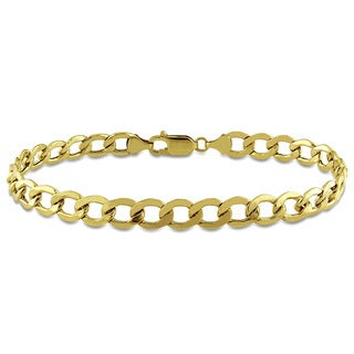 Miadora 10k Yellow Gold Men's Curb Bracelet