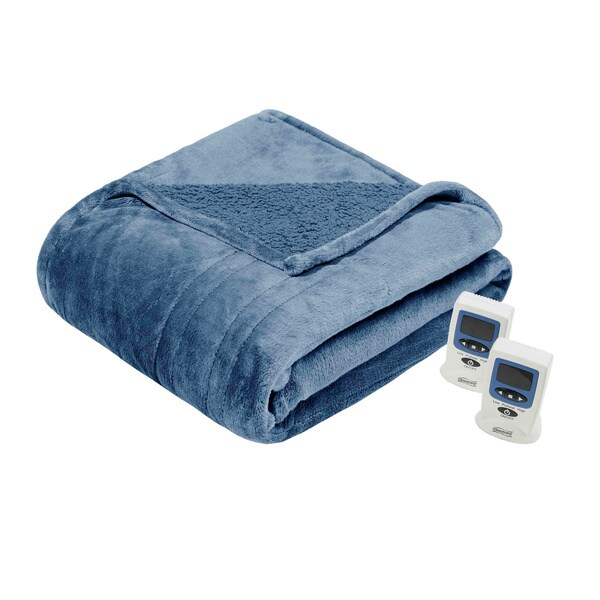 Beautyrest Solid Microlight/Berber Heated Blanket