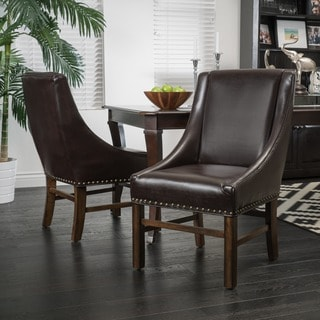 Christopher Knight Home James Bonded Leather Dining Chair (Set of 2)