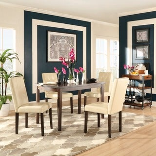 Shermer Bonded Leather Brown Mission 5-piece Dining Set