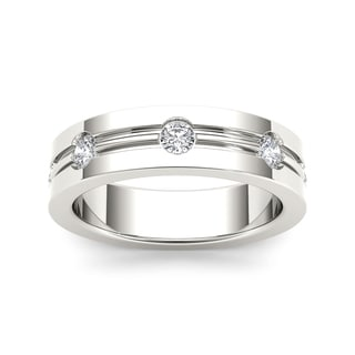 De Couer 14k White Gold 1/2ct TDW Diamond Band (H-I, I1-I2)