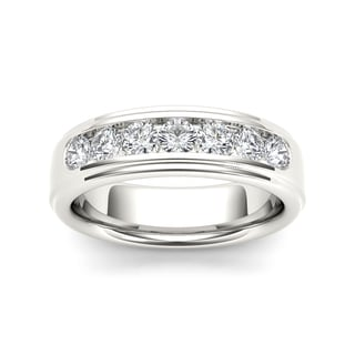 De Couer 14k White Gold 1ct TDW Diamond Band (H-I, I1-I2)
