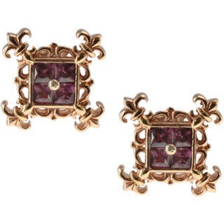 Dallas Prince Sterling Silver Rhodolite Earrings