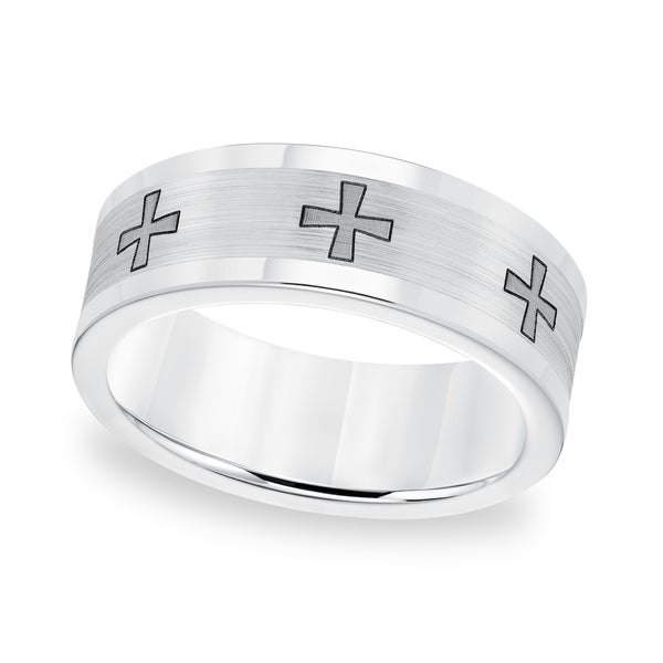 Cambridge Cobalt Laser Cross Wedding Band (8 mm)