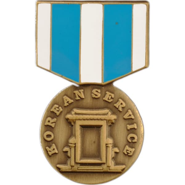 Korean Service Medal Pin