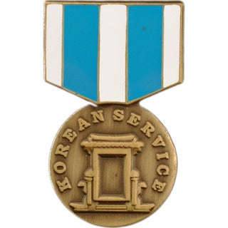 Korean Service Medal Pin