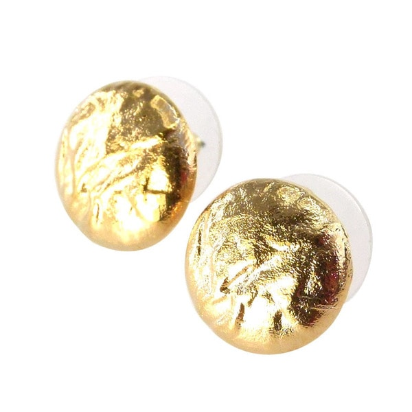 De Buman 18k Goldplated Stud Earrings