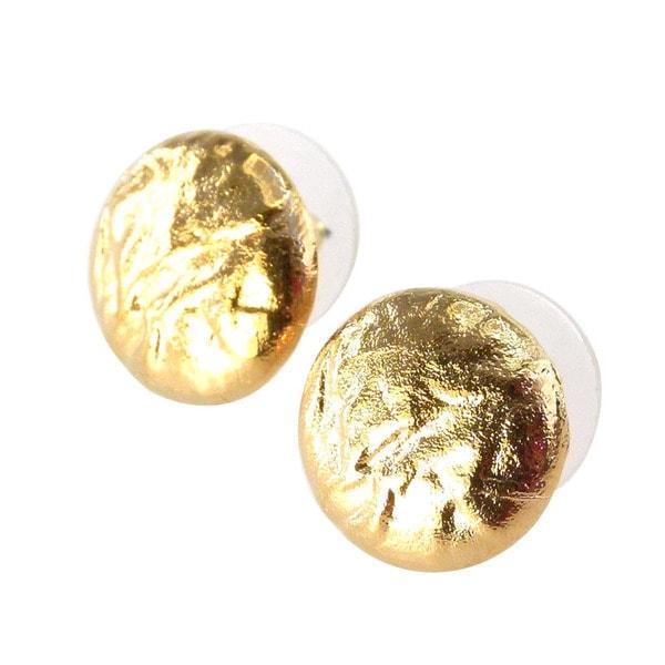 De Buman 18k Goldplated Stud Earrings