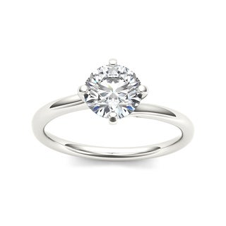 De Couer 14k White Gold 1ct TDW Diamond Solitaire Ring (H-I, I1-I2)