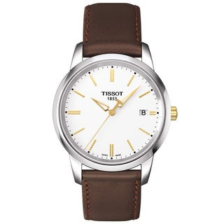 Tissot Men's T0334102601101 T-Classic Dream Brown Leather Watch