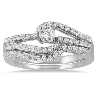 10k White Gold 3/4ct TDW Diamond Bridal Set (I-J, I1-I2)