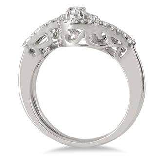 Marquee Jewels 10k White Gold 1/2ct Diamond Bridal Set (I-J, I1-I2)