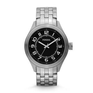 Fossil Men's BQ1037 Asher Three-Hand Stainless Steel Watch