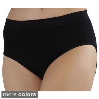 ToBeInStyle Full Coverage Seamless Microfiber Briefs (Pack of 6)