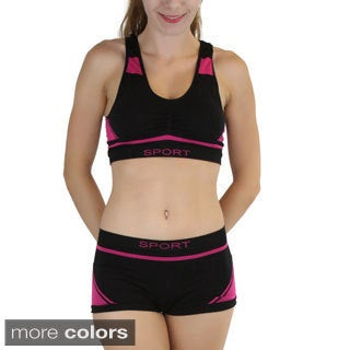 ToBeInStyle Padded Racerback Sports Bra OR Boy Shorts (Pack of 6)
