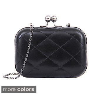 Mellow World Marilyn Diamond-quilted Leatherette Clutch