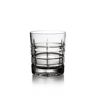 Fitz and Floyd Plaid Clear Old Fashioned Glasses (Set of 4)