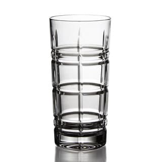 Fitz Floyd Plaid Clear Hi-ball Glass (Set of 4)