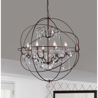 Edwards Antique Bronze 32-inch Orb Chandelier