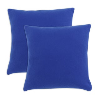 Somette Simply Soft Royale Blue Fleece 17-inch Throw Pillows (Set of 2)