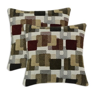 Farrar Multi Flocked 17-inch Throw Pillows (Set of 2)