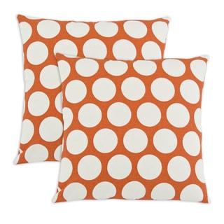 Sweet Potatoe Dandie Orange Polka Dot 17-inch Throw Pillows (Set of 2)
