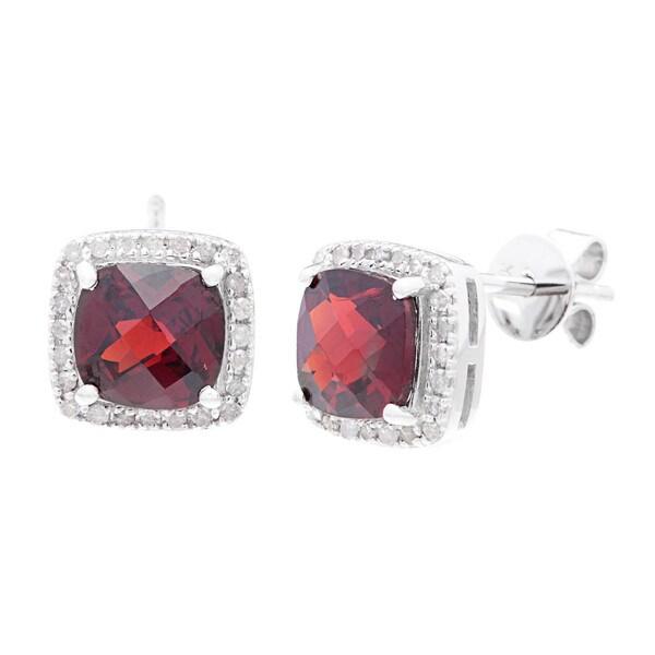 10k White Gold 1/5ct TDW Diamond and Multi-gemstone Earrings (G-H, I1-I2)