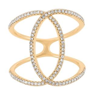 14k Yellow Gold 2/5ct TDW Diamond Double Ring (G-H, I1)