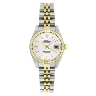 Pre-Owned Rolex Women's 69173 Datejust Two-Tone White Stick Watch