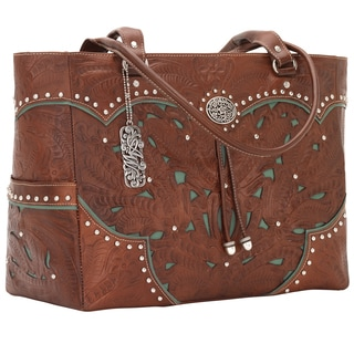 American West Antique Brown/Turquoise Carry-on Tote