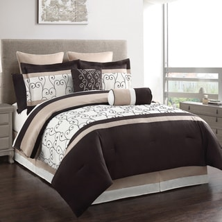 Heston 12-piece Embroidered Comforter and Sheet Set