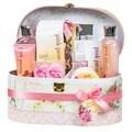 Pink Peony Jewelry & Cosmetic Box Spa Bath Gift Set