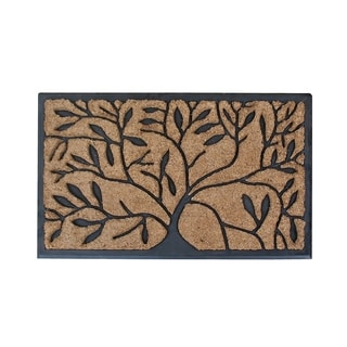 Hand-crafted Molded Natural Brush Mat (1'6 x 2'4)