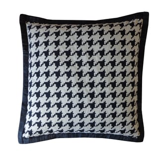 Jiti Black Houndstooth Cotton Pillow