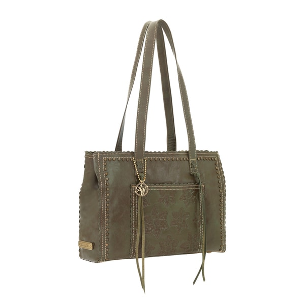 American West Olive Green Large Shopper Tote