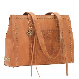 American West Golden Tan Large Shopper Tote