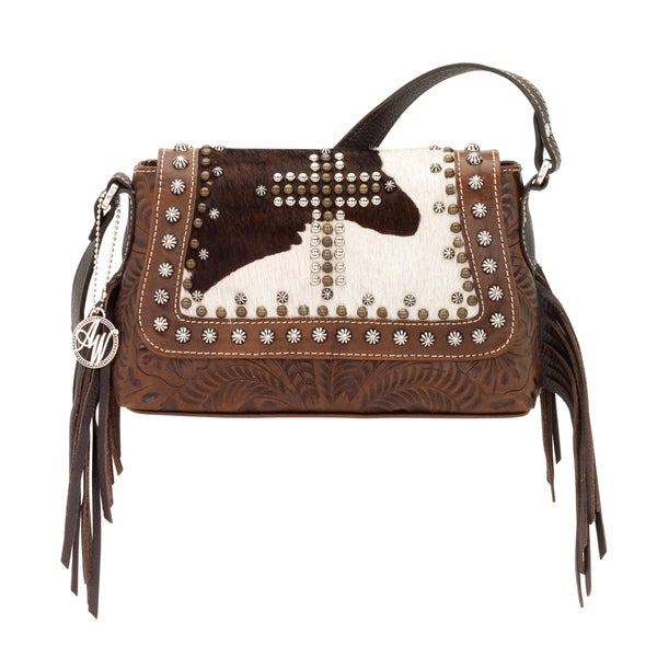 American West Chestnut Brown/ Chocolate Brown/ Pony Hair Crossbody Bag