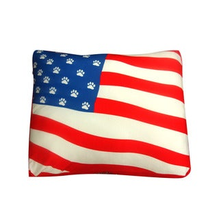 Dogzzzz American Flag Medium Rectangular Dog Bed